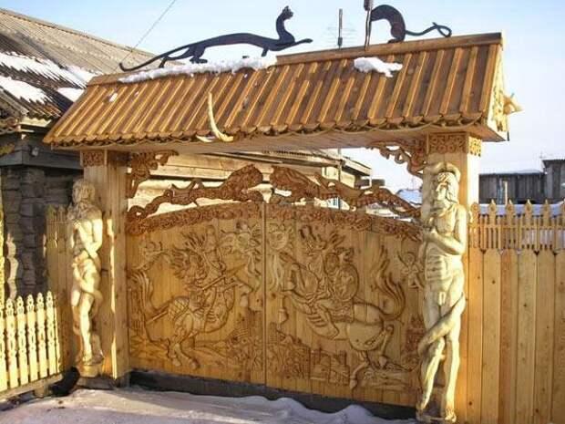 Шикарные и удивительные калитки и ворота. Часть 2 ворота, дизайн, искусство, калитки, удивительно