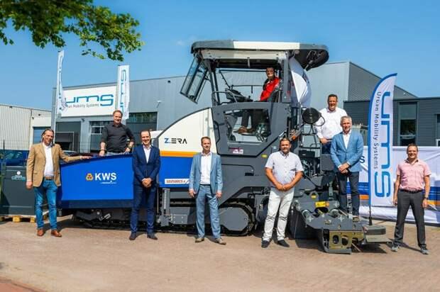 Первый электрический асфальтоукладчик запущен в эксплуатацию в Нидерландах
