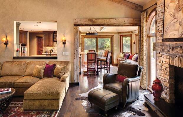 Рустикальный стиль деревянного дома – новое направление в дизайне (52 фото)