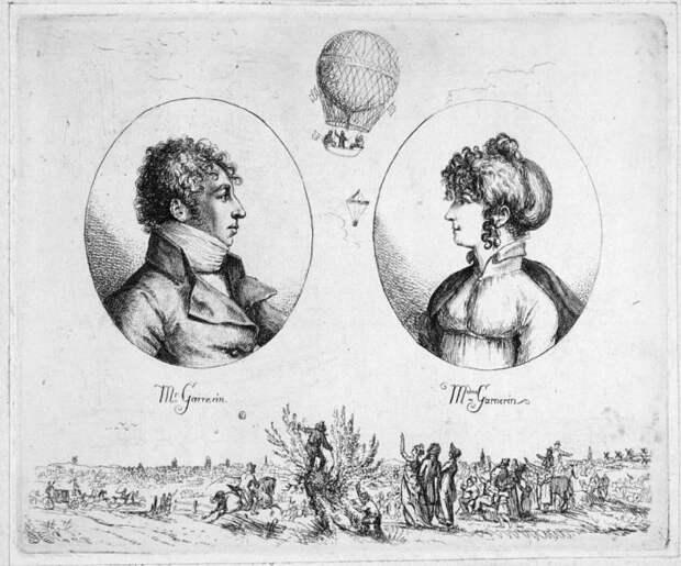 Гарнерен со своей женой Жанной-Женевьевой Ляброссе. | Фото: en.wikipedia.org.