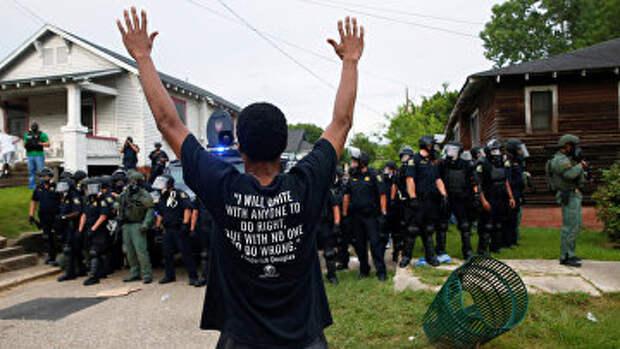 Протесты в Батон-Руж, США