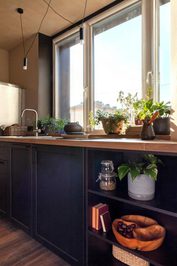 30 кв.м — квартира с необычным оттенком штукатурки