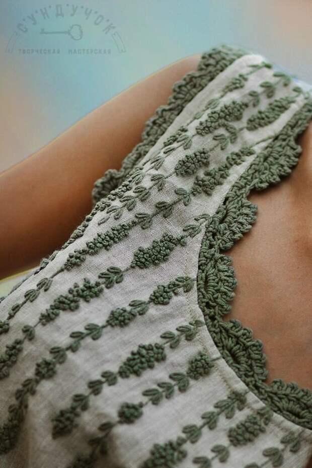 Элементы, связанные крючком, в обычной одежде