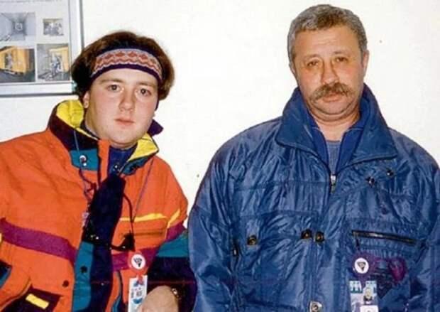 Леонид Якубович со своим сыном Артёмом, конец 90-х.