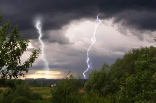 МЧС предупреждает о грозе и граде в Калужской области