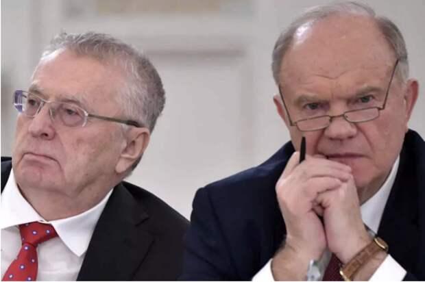 Зюганов готовит экстренное обращение к соратникам в ответ на скандальное заявление Жириновского
