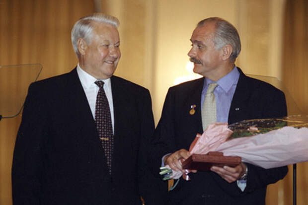 Борис Ельцин и Никита Михалков