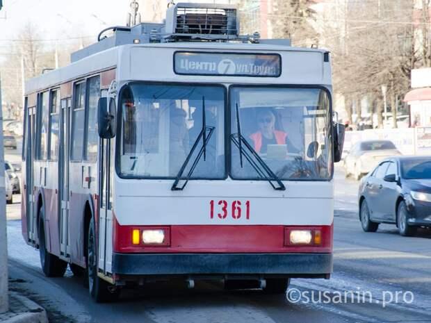 Движение троллейбусов по улице Пушкинской в Ижевске закроют 9 мая
