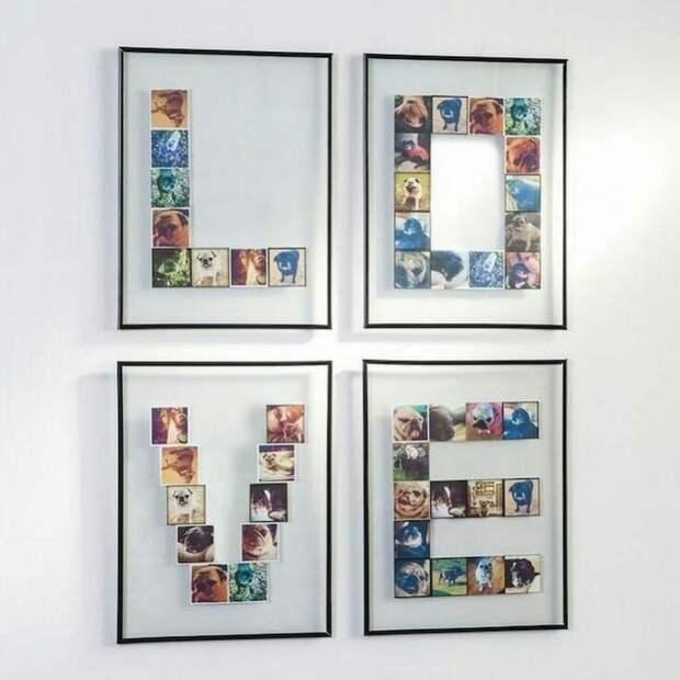 Развеска семейных фото