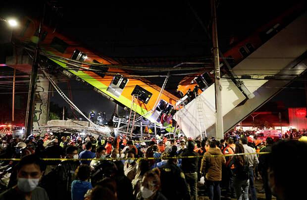 Обрушение метромоста в Мехико: число погибших возросло до 23, более 70 пострадали