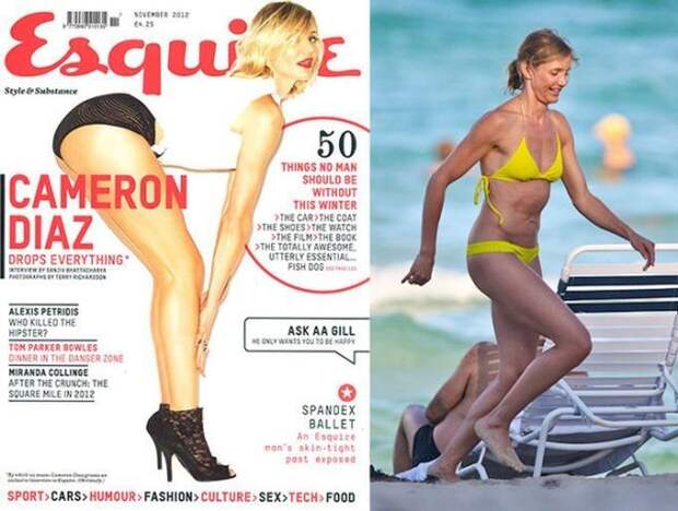 Звезды на обложках журналов и в реальной жизни