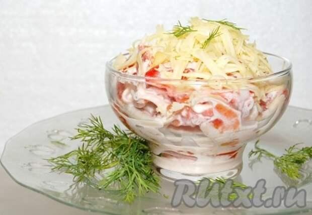 "Салат ""Красное море"" с кальмарами"