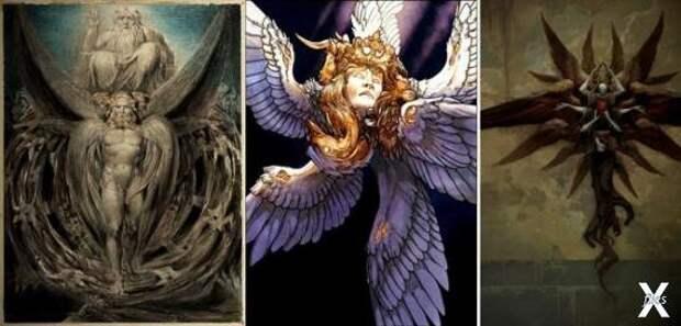 У каждого из них по шести крыл: двумя...