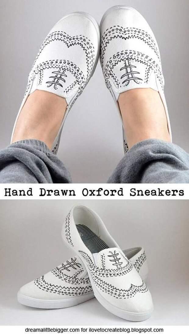 Нарисованные туфли