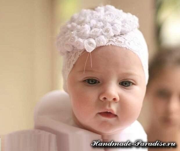 Повязка на голову для ребенка своими руками (2)
