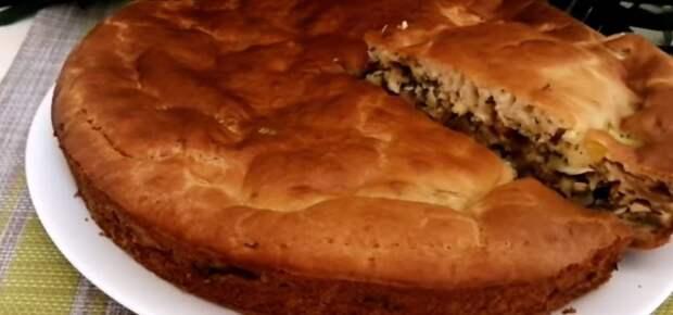 Пирог с капустой на скорую руку! Что я добавляю в тесто для заливных пирогов , чтобы оно было не резиновое, а нежное и пушистое