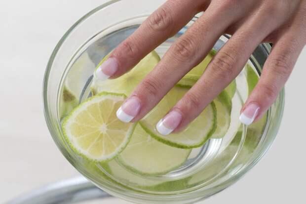 Отбеливающая ванночка для ногтей   крепкие и красивые ногти (идеально для дачного сезона)