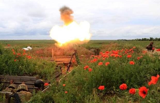 Появилось видео новой ночной атаки украинских военных по силам республик Донбасса