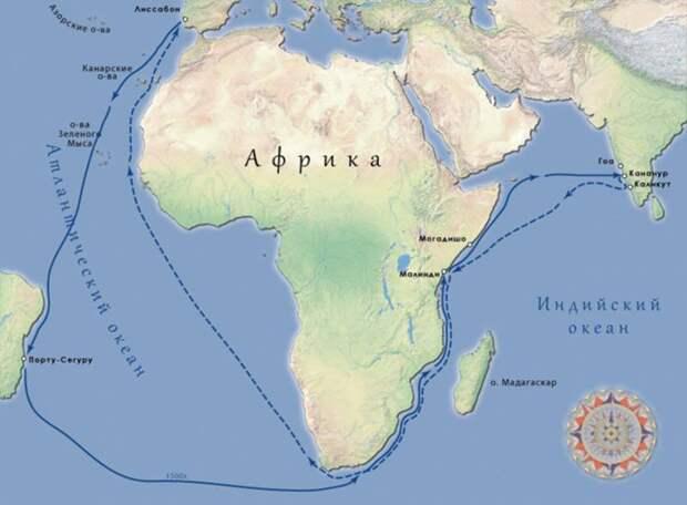 По завету Генриха Мореплавателя. Путь в Индию: Васко да Гама, Кабрал и другие (1,2)