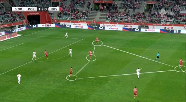 """Кажется, """"ромб"""" - наша основная система игры на Евро-2020. С Польшей Черчесов проводил замены только по позициям"""