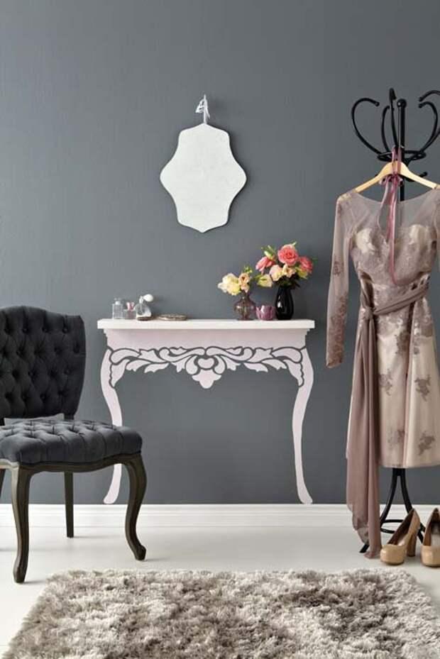 Декор: делаем из простой полки столик во французском стиле. МК