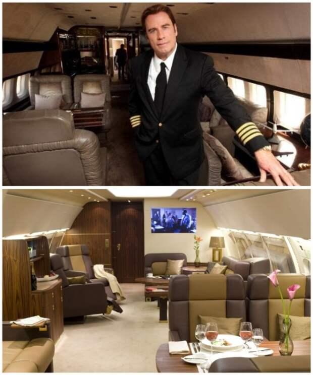 Джон Траволта владеет 5 самолетами и сам управляет ими.   Фото: pinterest.co.uk.