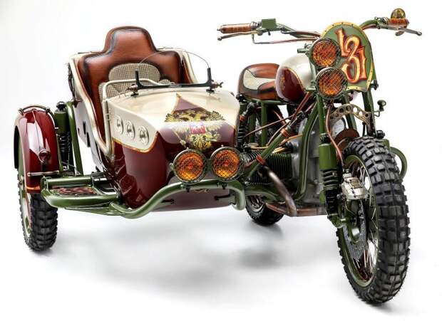 Американцы сделали уникальный мотоцикл «Урал» с российским гербом авто, кастом-байк, кастомайзинг, мото, мотоцикл, мотоцикл с коляской, мотоцикл урал