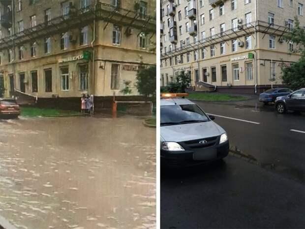 Водосточная сеть на востоке Москвы принимает весь объем осадков