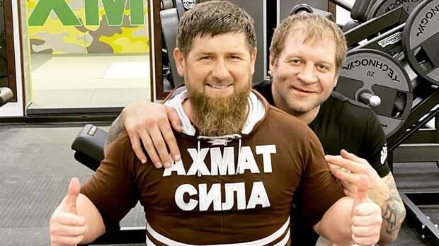 Кадыров— оЕмельяненко: «Покамерам смотрю твои тренировки. Тыфизкультурой занимаешься, анеспортом»