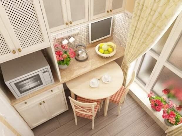 интерьер кухни 5 кв м