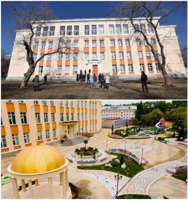 Невзрачную школу Екатеринбурга меценат превратил в «крыло Зимнего дворца»