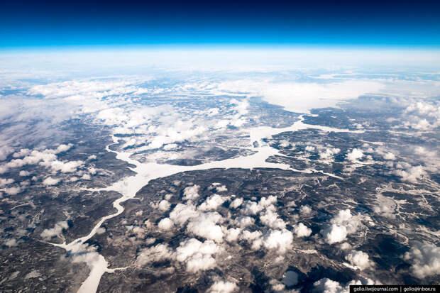 Вилюйское водохранилище в Якутии.