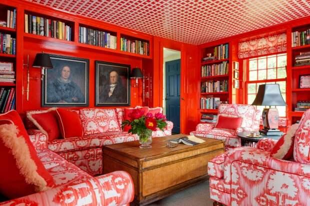 Все красное в интерьере: стильно или перебор?