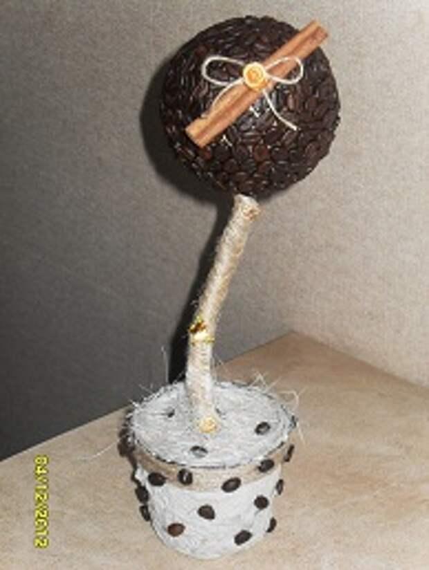 Кофейный топиарий - отличный подарок к Новому году!