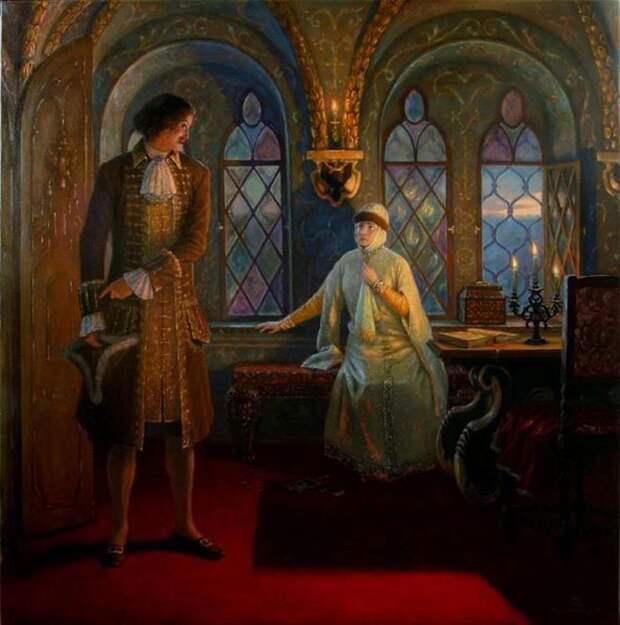 Петр I и Евдокия