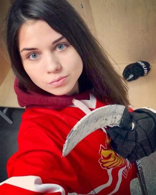 Самая красивая хоккеистка России.