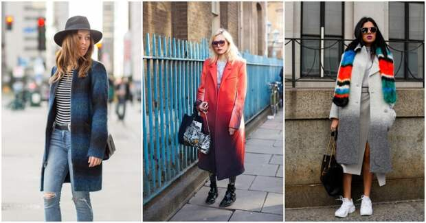 Стильные пальто-омбре для модного образа этой зимой