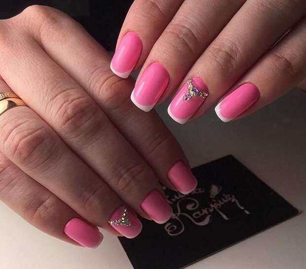 розовый френч фото 35