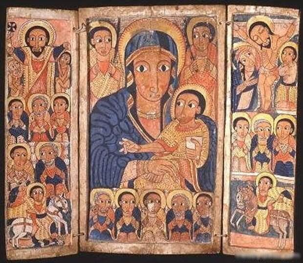 Дева Мария с Иисусом (Эфиопия)