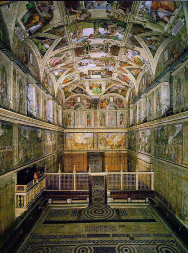 Самая известная часть Ватикана - Сикстинская капелла.