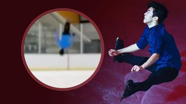 Американский фигурист Чен выполнил сальто на льду после четверного прыжка