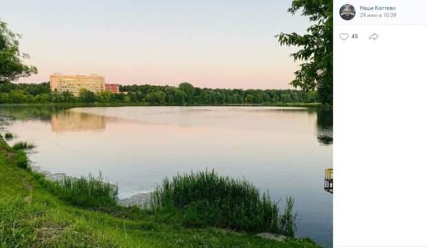 Фото дня: опустевший Большой Садовый пруд