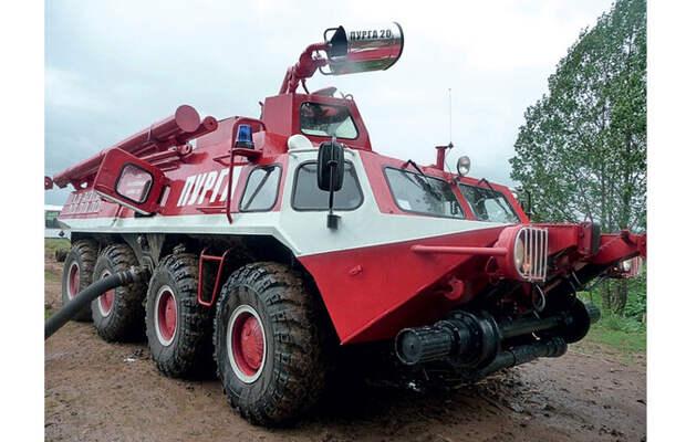 Пожарный БТР на пневмоколесном и рельсовом ходу ГАЗ-59402 «Пурга»