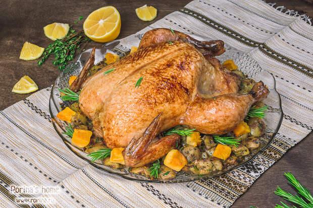 Курица в духовке целиком: рецепт с хрустящей корочкой по Хестону ...