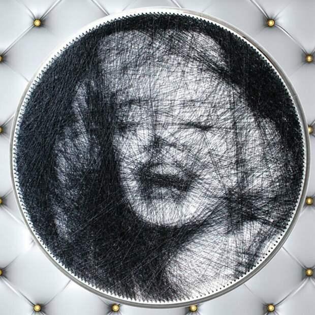 Мэрилин Монро искусство, красиво, креатив, нити, программирование, рисунки, творчество, художники