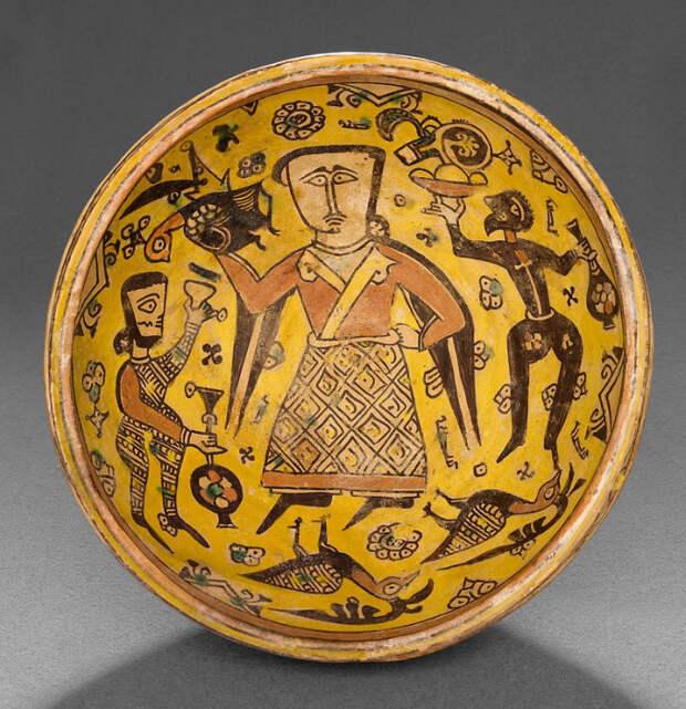 Чаша. Нишапур, Иран, 10 век. Музей исламского искусства, Катар. Дата создания 900 - 1000