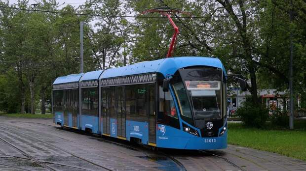 В Москве запустят первый беспилотный трамвай