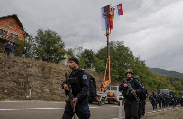 На границе Сербии и Косова развернуты силы НАТО