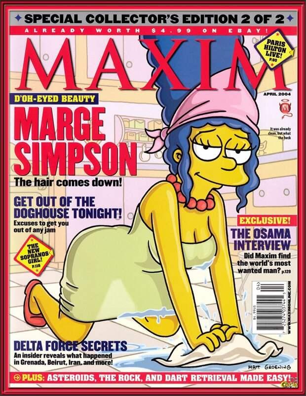 Фотосессия Мардж Симпсон для спецвыпуска журнала Playboy