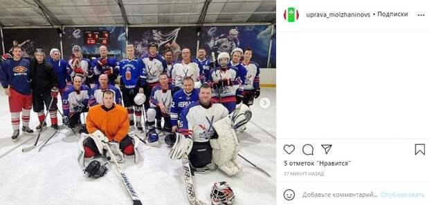 Хоккейная команда «Молжаниново» сыграла вничью на Московском турнире